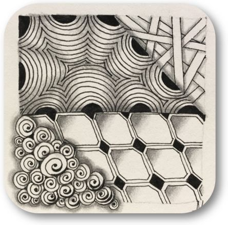 Zentangle Basis workshop gezellig en ontspannend